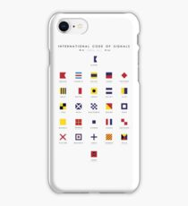 Nautical Flags: International Code of Signals iPhone Case/Skin