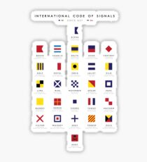Nautical Flags: International Code of Signals Sticker