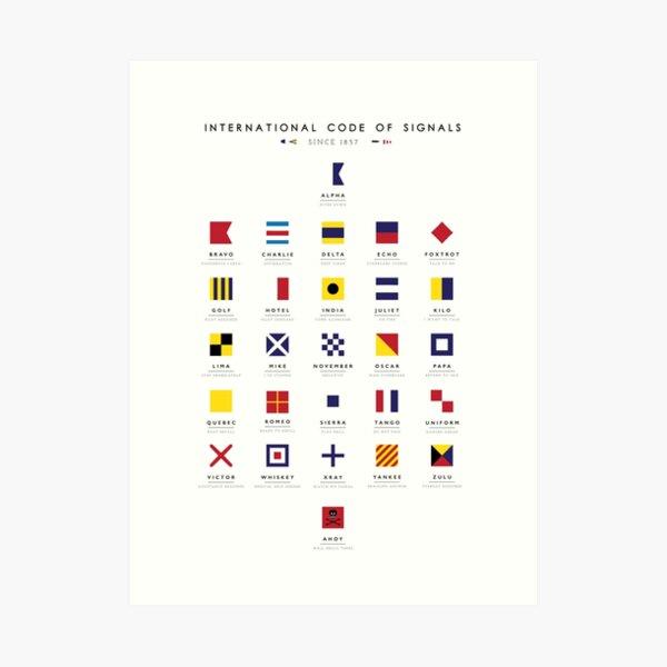 Nautical Flags: International Code of Signals Art Print