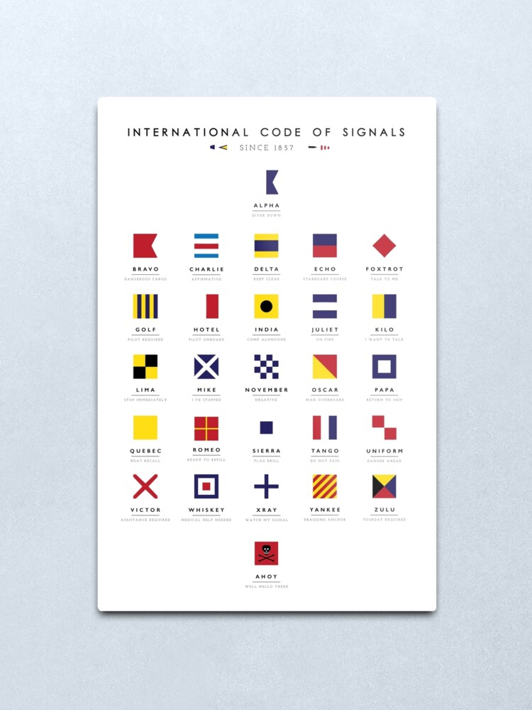 Alternate view of Nautical Flags: International Code of Signals Metal Print