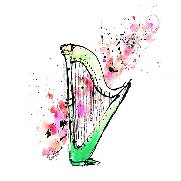 Arpa - colorida obra de arte original de ArtyMargit