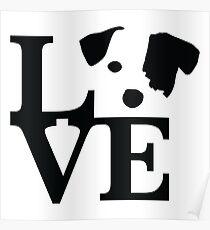 Jack Russel Terrier Love Poster
