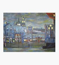 When Night falls / On The Beautiful City Streets           ( My Paintings )  Photographic Print