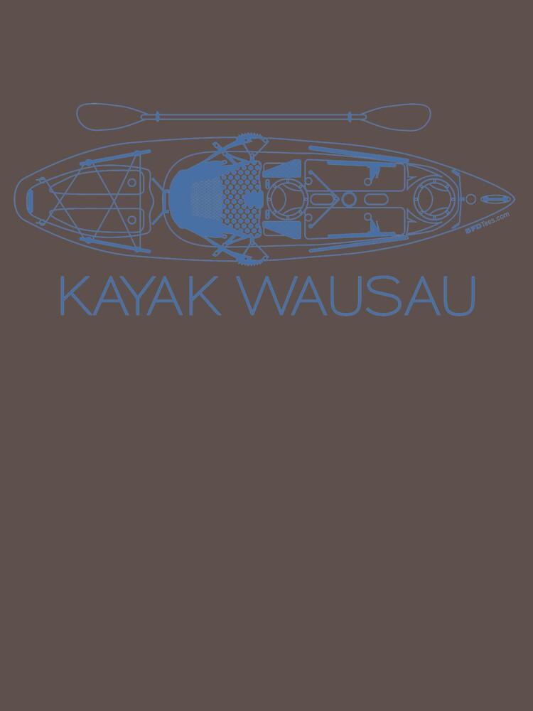 Kayak Wausau - Blue by bigfatdesigns