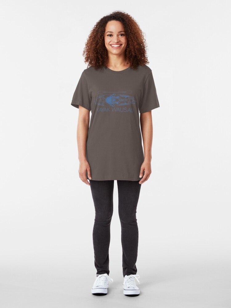 Alternate view of Kayak Wausau - Blue Slim Fit T-Shirt