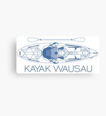 Kayak Wausau - Blue Canvas Print