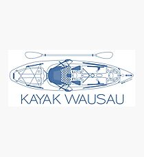 Kayak Wausau - Blue Photographic Print