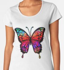 Psychedelic Butterfly Women's Premium T-Shirt