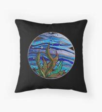 Kelp Bubbles (Color) Throw Pillow