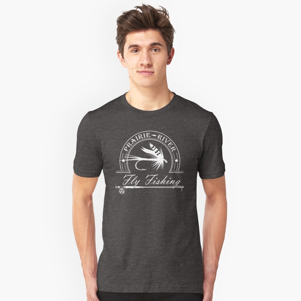 Prairie River - White Slim Fit T-Shirt