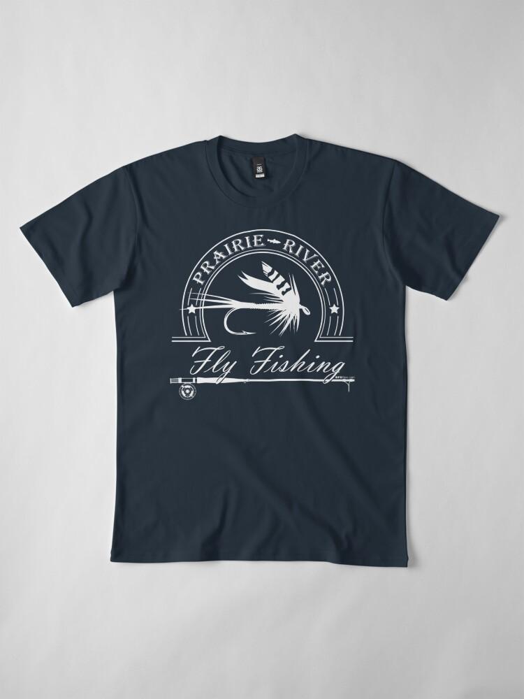 Alternate view of Prairie River - White Premium T-Shirt