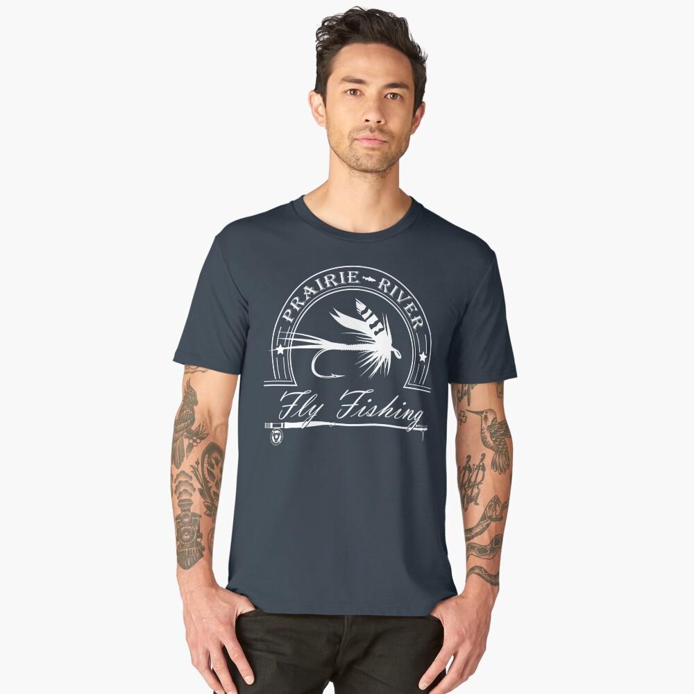 Prairie River - White Men's Premium T-Shirt Front