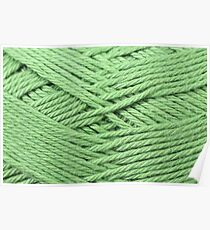 Lime Green Yarn Texture Close Up Poster