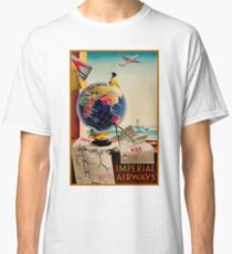 IMPERIAL AIRWAYS : Vintage Airline Advertising Print Classic T-Shirt