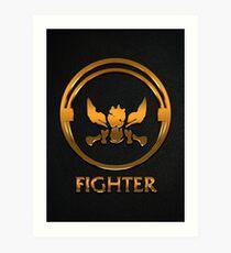 League of Legends FIGHTER [gold emblem] Art Print