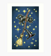Everyday Witch Tarot - Back of Card Design Art Print