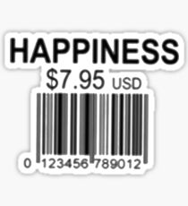 Happiness Barcode Sticker