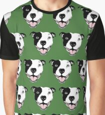 Pitbull advocate and dog lovers repetitive pattern Graphic T-Shirt