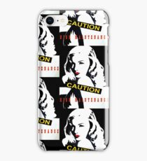 CAUTION High Maintenance! Black and white pop art, Veronica red lips iPhone Case/Skin