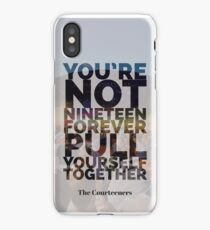 Not Nineteen Forever Lyric Graphic iPhone Case/Skin