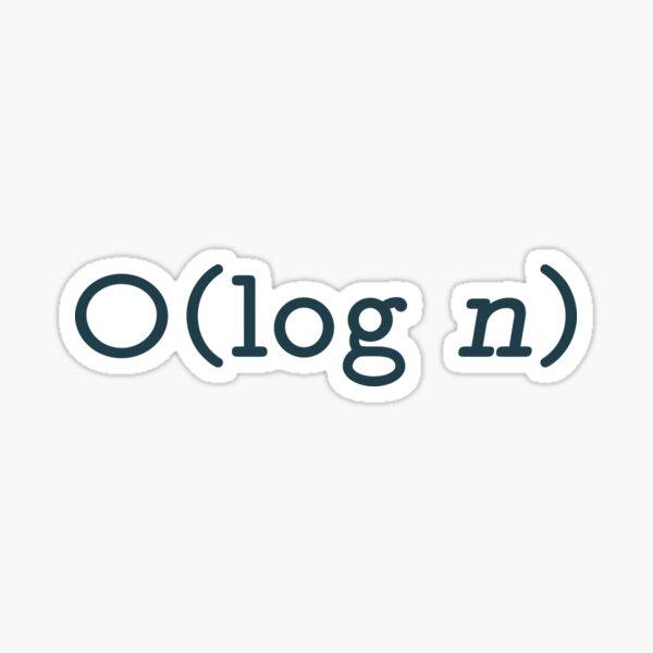 O(log n) - Big O Notation Blue Text Computer Scientist Design Sticker