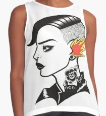 Old-School Hipster Contrast Tank