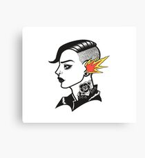 Old-School Hipster Canvas Print