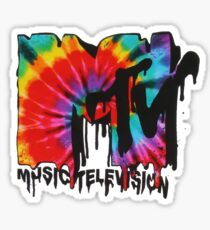 Mtv Tie Dye Logo Sticker