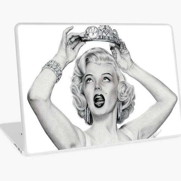 Marilyn Crown Laptop Skin