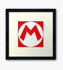 M - Mario Framed Print