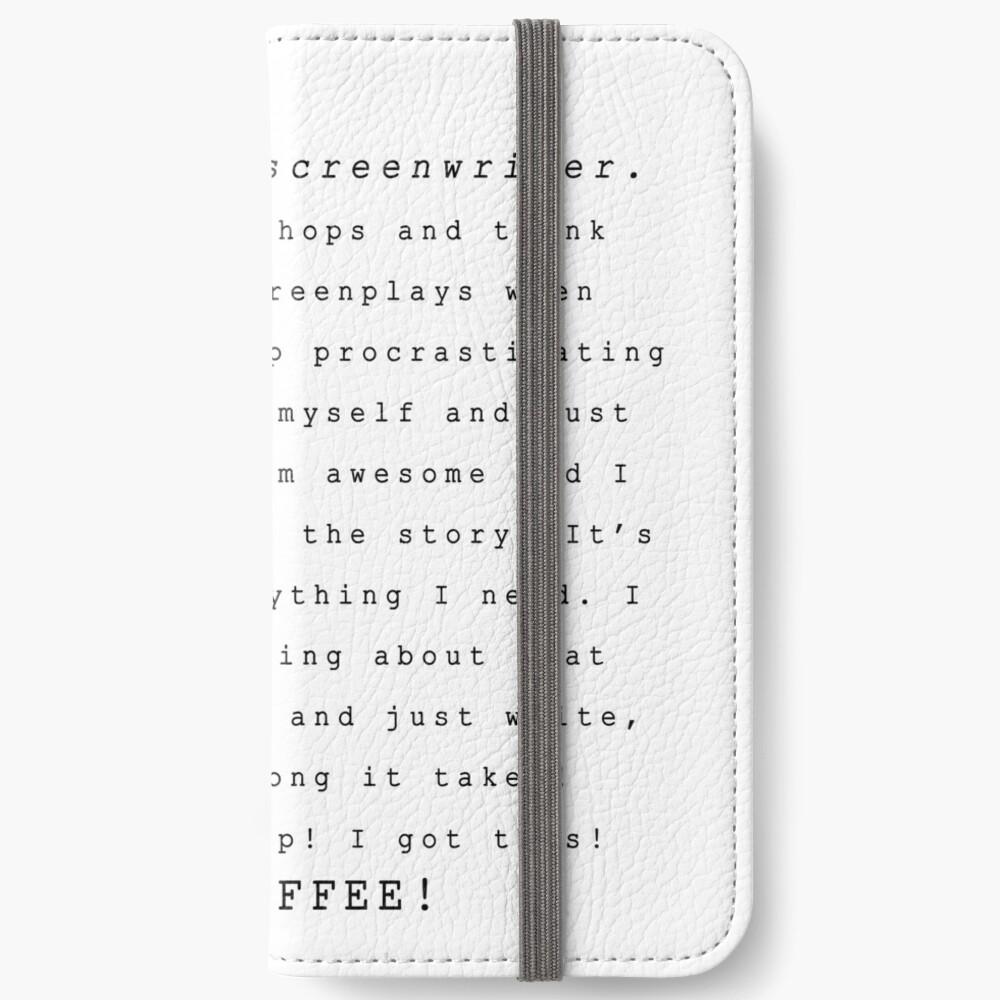 Screenwriters (Typewriter II) iPhone Wallet