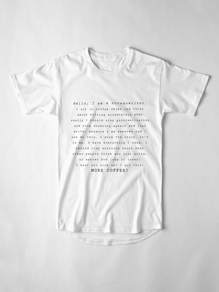 Alternate view of Screenwriters (Typewriter II) Long T-Shirt