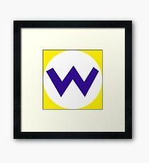 W - Wario Framed Print