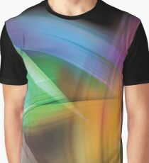 Magnetic Light Flux Abstract Graphic T-Shirt