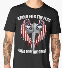 Stand for the Flag, Kneel for the Cross Men's Premium T-Shirt