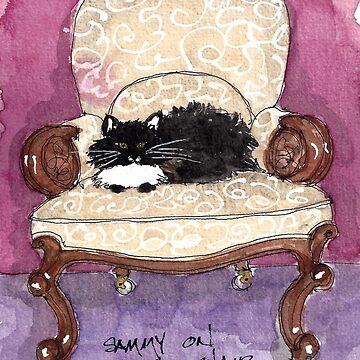Sammy on the Victorian by dkatiepowellart