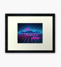 New Retro Wave Framed Print