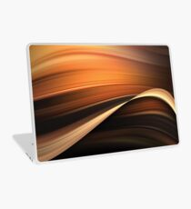 Chocolate and Caramel Mix Abstract Flow Laptop Skin