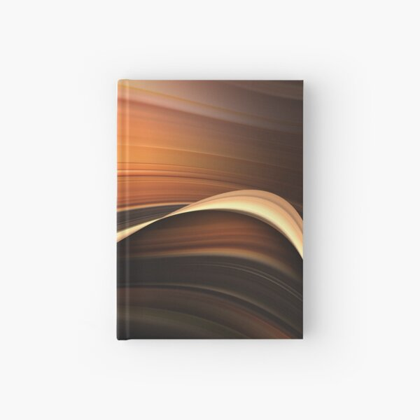 Chocolate and Caramel Mix Abstract Flow Hardcover Journal