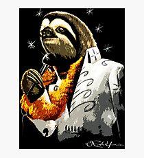 Black Velvet Painting Sloth  Photographic Print