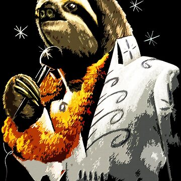 Black Velvet Painting Sloth  by robotface