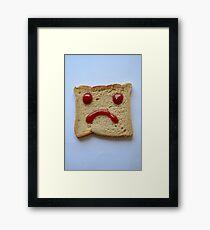 Sliced Frown Framed Print