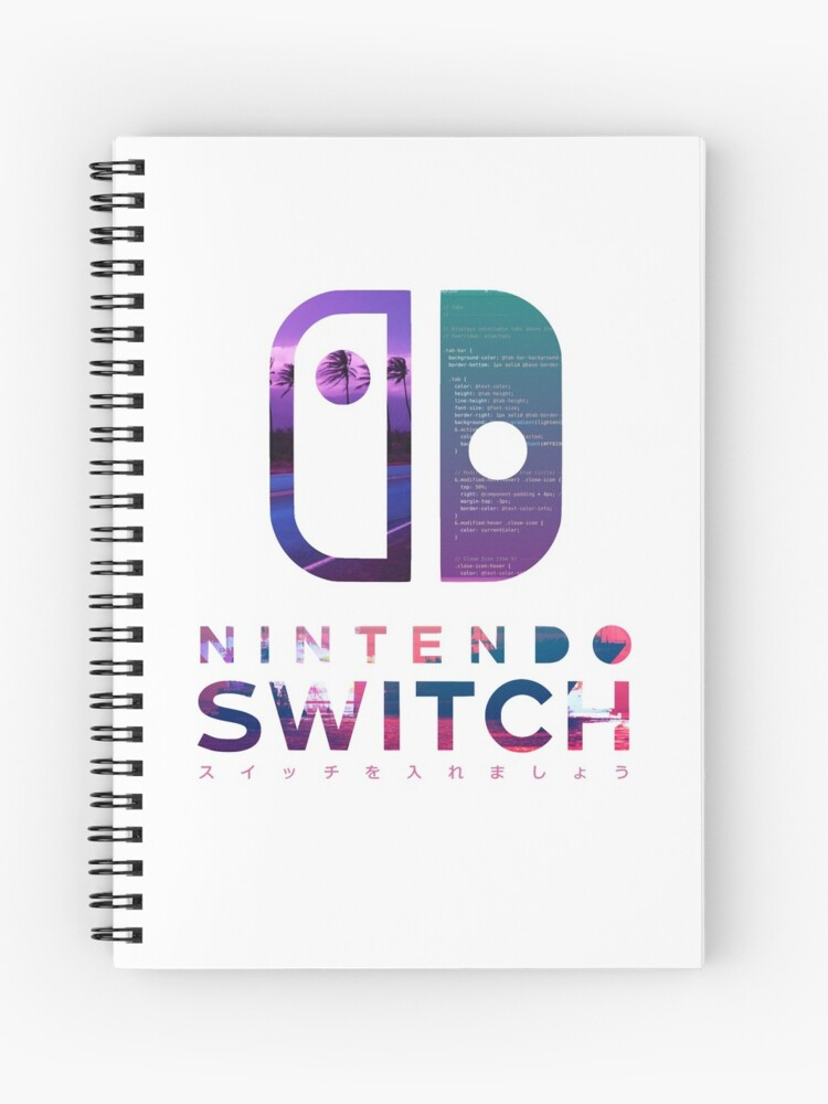 nintendo switch vaporware aesthetic logo spiral notebook by xferson redbubble redbubble