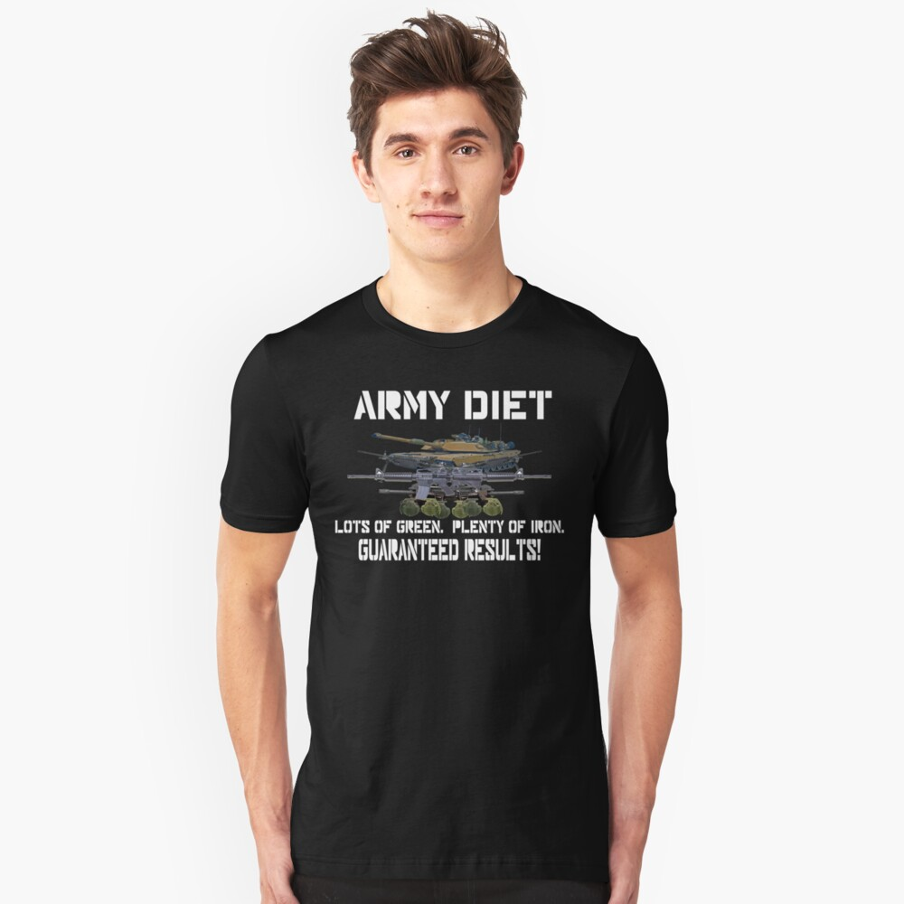 Army Diet Unisex T-Shirt Front