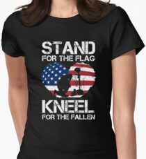 Stand For The Flag, Kneel For The Fallen! T-Shirt