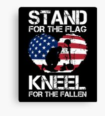 Stand For The Flag, Kneel For The Fallen! Canvas Print