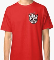 Boston Terrier - Buddha series: twirly cap silly dog  Classic T-Shirt