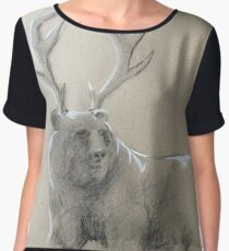 The mighty antlered bear Women's Chiffon Top