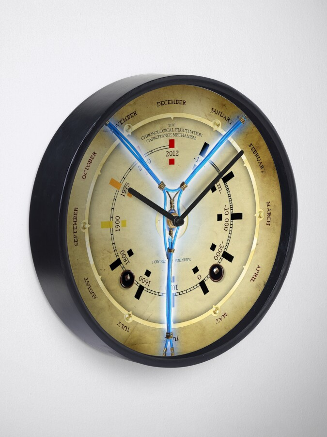 Alternate view of Steampunk Time Travelling Flux Capacitor Wall Clock Clock