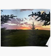 Ranch Sunset in Summer Poster